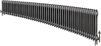 Eastgate Victoriana 3 Column 47 Section Cast Iron Radiator 450mm High x 2863mm Wide - Metallic Finish